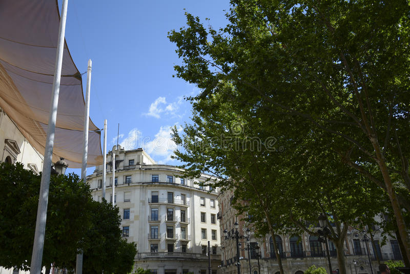 Plac Nueva w Sevilla obrazy royalty free