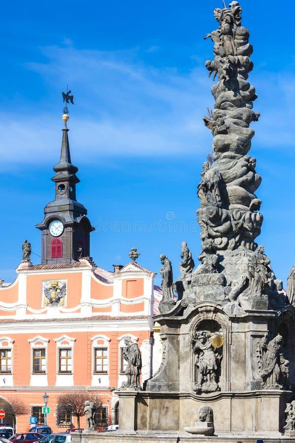Plac Ressel& x27;& x27;s, Chrudim, Czechy zdjęcia royalty free