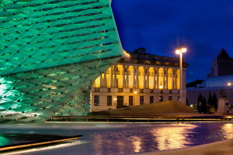Plac Wolnosci in Poznan. Poznan is a city in west-central Poland. Plac Wolnosci (Freedom square) on Evening royalty free stock photography