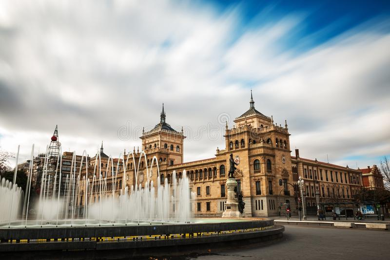 Plac Zorrilla i kawalerii akademia Valladolid obraz royalty free