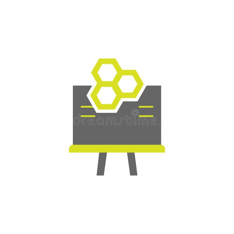 Placa, ícone da fórmula Elemento do ícone da experiência da ciência para apps móveis do conceito e da Web A placa detalhada, fórm ilustração do vetor