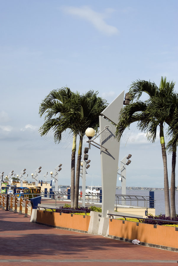 Placa 2000 de guayaquil do malecon da passagem fotografia de stock