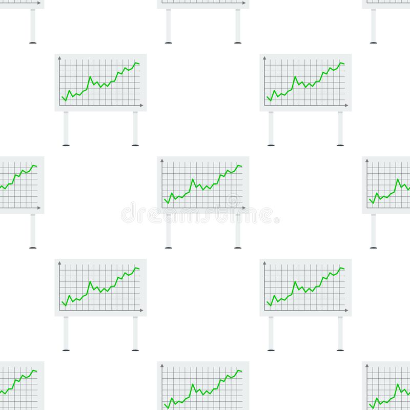 Placa acima do teste padrão sem emenda do gráfico verde ilustração stock