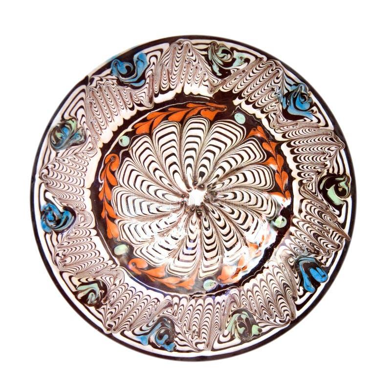 Placa aislada de la cerámica imagenes de archivo