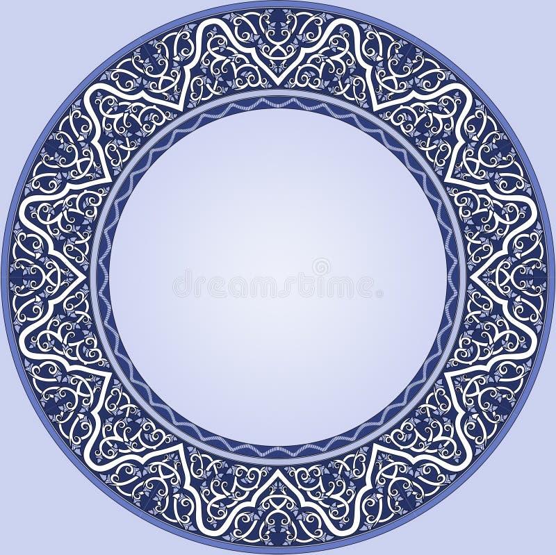 Placa azul ilustração do vetor