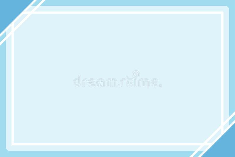 Placa azul pastel do quadrado do fundo do molde da Web da bandeira do quadro da cor e espaço da cópia para anunciar o desconto  ilustração stock