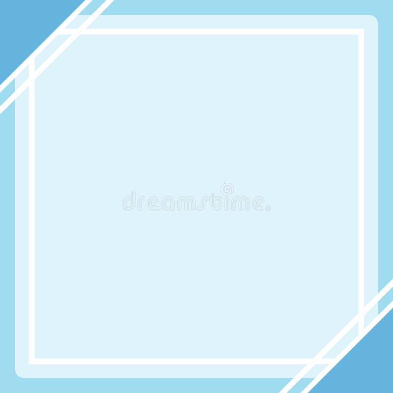 Placa azul pastel do quadrado do fundo do molde da Web da bandeira do quadro da cor e espa?o da c?pia para anunciar o desconto da ilustração do vetor