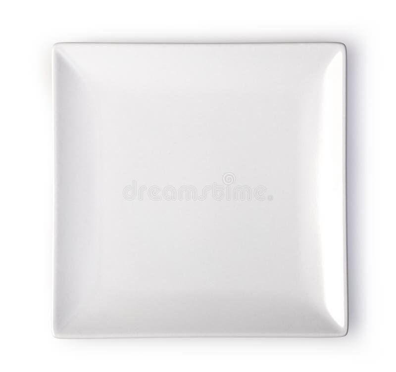 Placa blanca imágenes de archivo libres de regalías