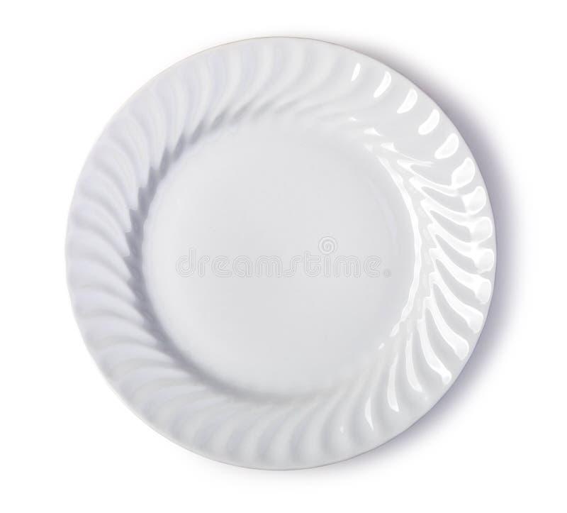 Placa blanca imagen de archivo libre de regalías