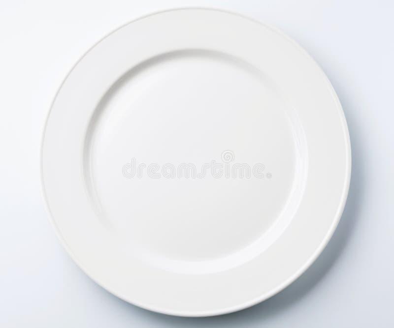 Placa blanca fotos de archivo libres de regalías