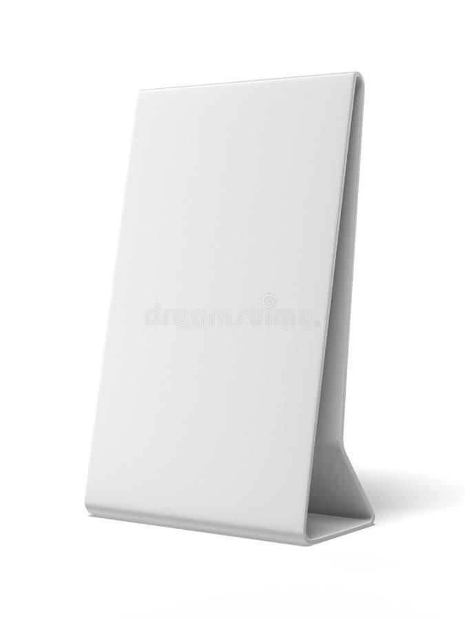 Placa blanca plástica del anuncio libre illustration