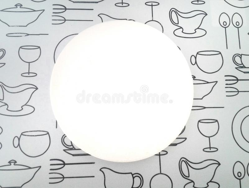 Placa branca brilhante imagens de stock