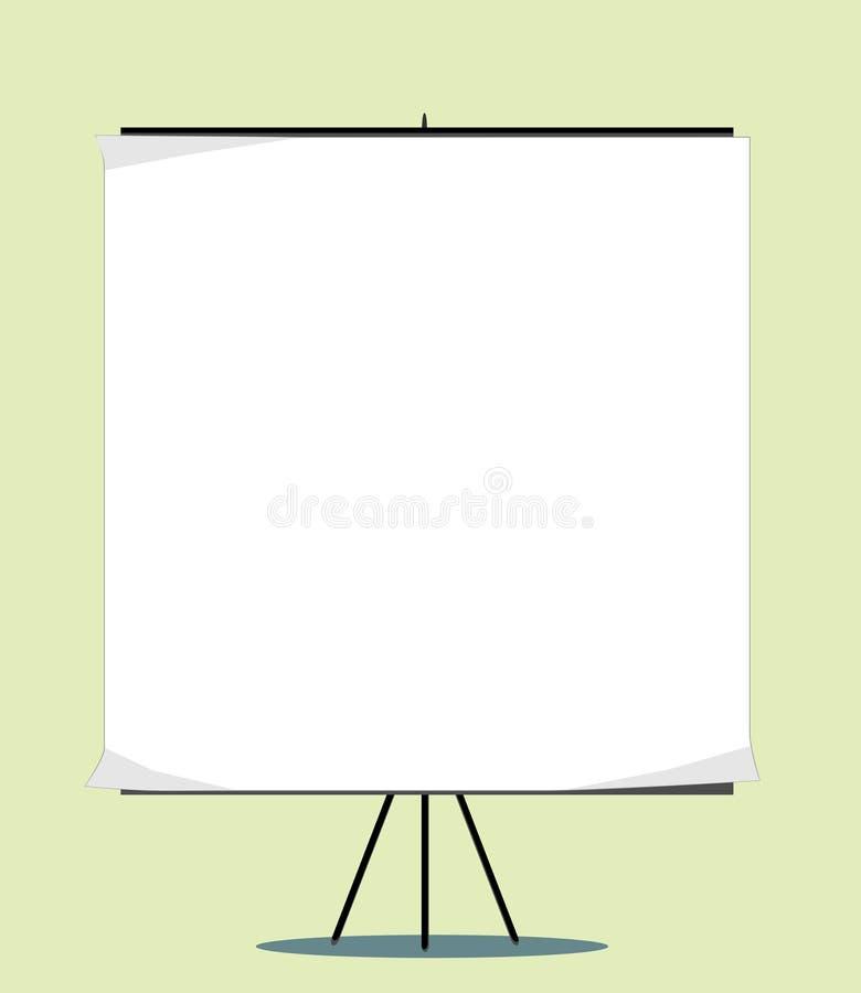 Placa branca com espaço vazio para sua mensagem ilustração stock
