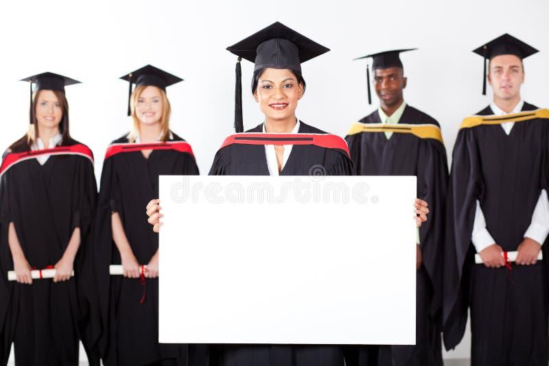 Placa branca da terra arrendada graduada do Indian foto de stock