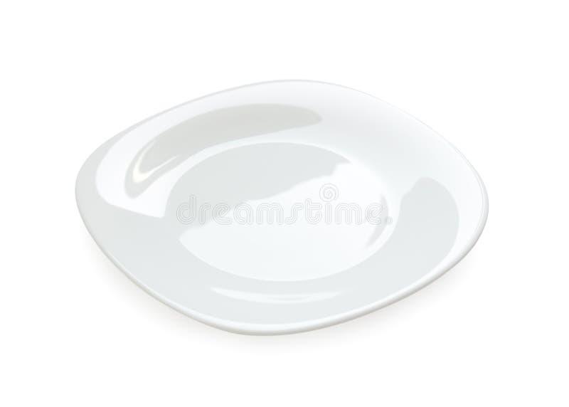Placa branca isolada imagens de stock