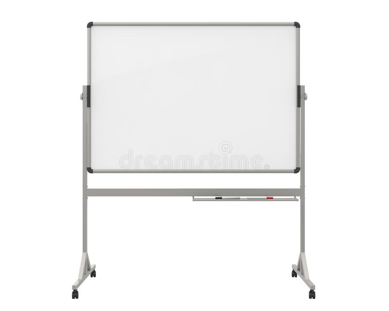 Whiteboard vazio ilustração do vetor