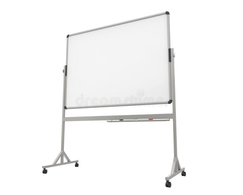 Whiteboard vazio ilustração stock