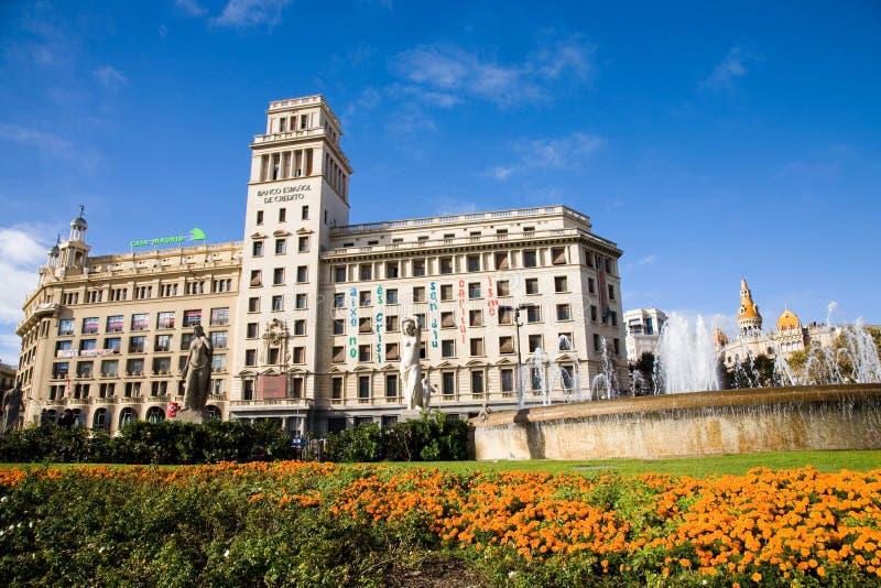 Placa catalunya, Barcelona royalty free stock photography