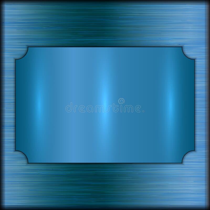 Placa cepillada extracto del premio del oro del vector en fondo beige libre illustration