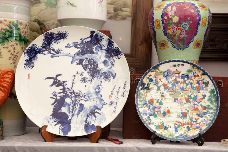 Placa chinesa da porcelana fotos de stock