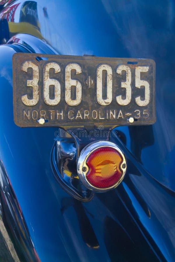 Placa clásica del automóvil imagen de archivo libre de regalías