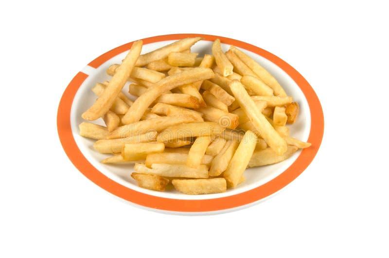 Placa com batatas fritas. imagens de stock royalty free