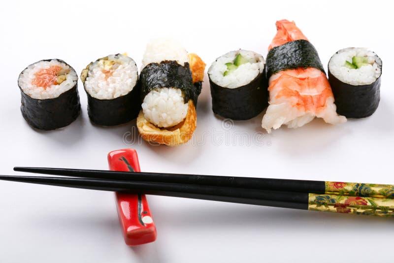 Placa com sushi imagem de stock