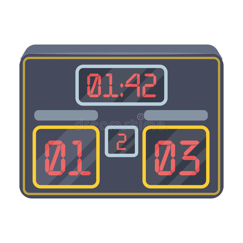 Placa com uma contagem do futebol Os fãs escolhem o ícone na ilustração do estoque do símbolo do vetor do estilo dos desenhos ani ilustração stock