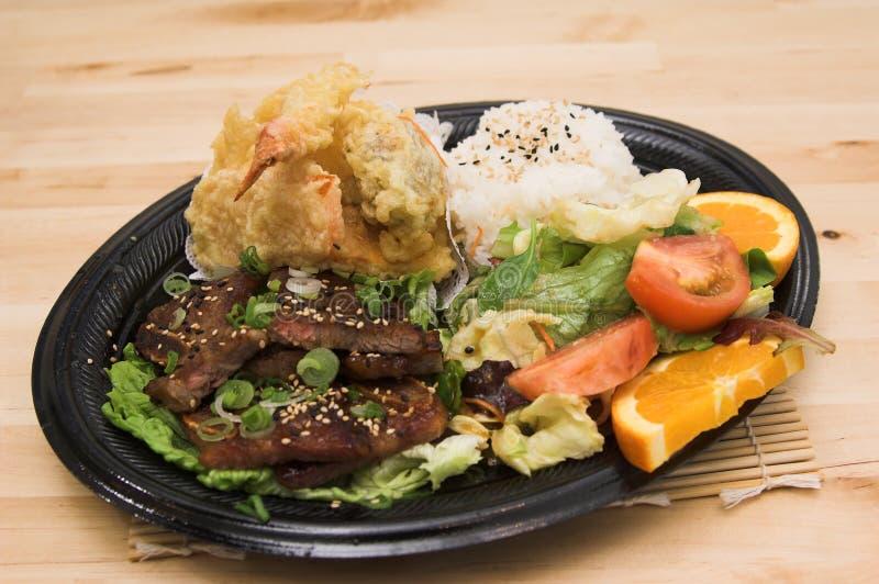 Placa combinado da carne de porco de MisoYaki foto de stock royalty free