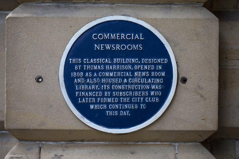 Placa comercial de las redacciones en Chester imágenes de archivo libres de regalías