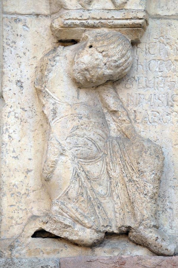 Placa con historias de la génesis: Historia sobre Abel y Caín imágenes de archivo libres de regalías