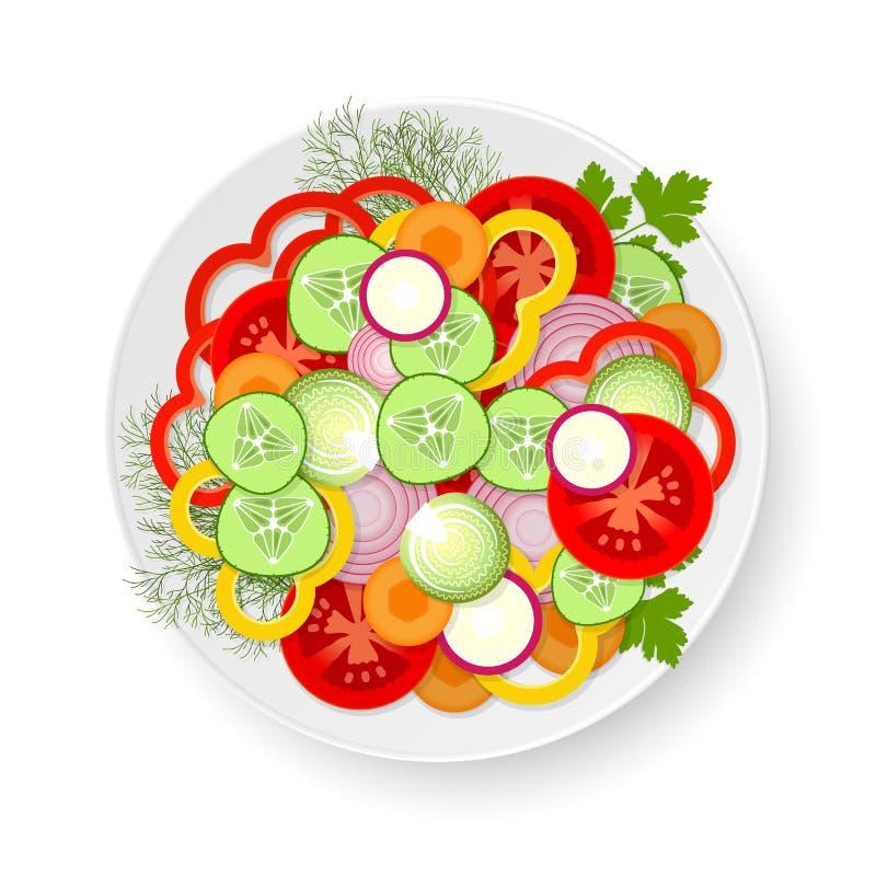 Placa con las verduras libre illustration
