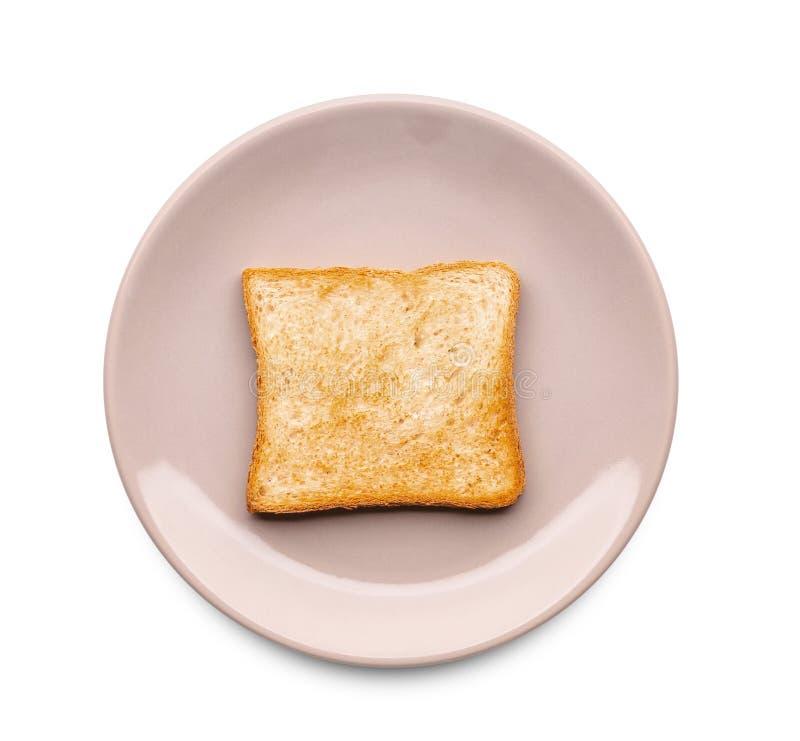 Placa con pan tostado sabroso foto de archivo libre de regalías