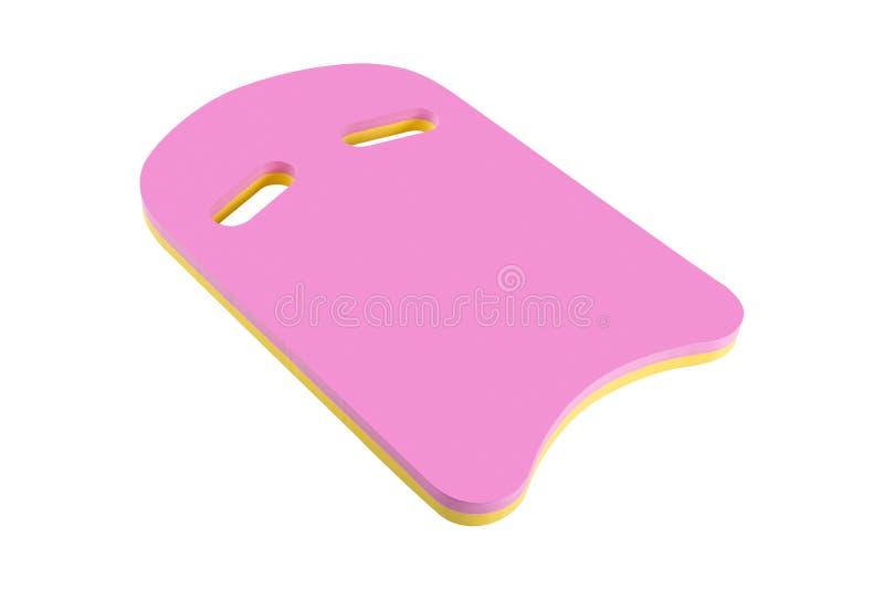 Placa cor-de-rosa da espuma para a ginástica aeróbica do aqua e a natação, acessório do esporte de água, no fundo branco isolado imagem de stock royalty free