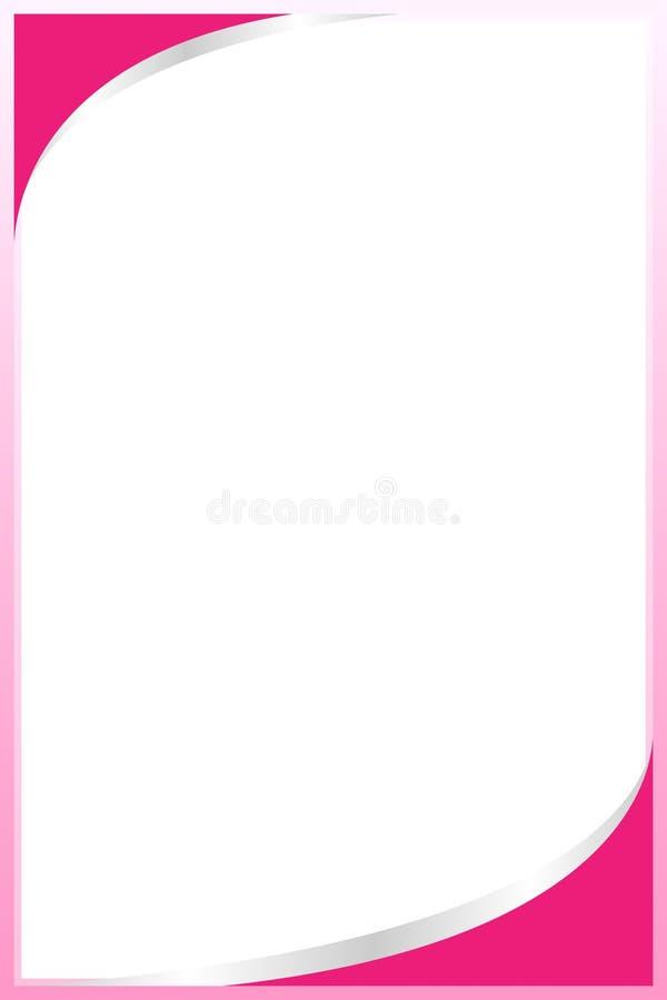 Placa cor-de-rosa pastel do quadrado do fundo do molde da Web da bandeira do quadro da cor e espaço da cópia para anunciar o de ilustração stock