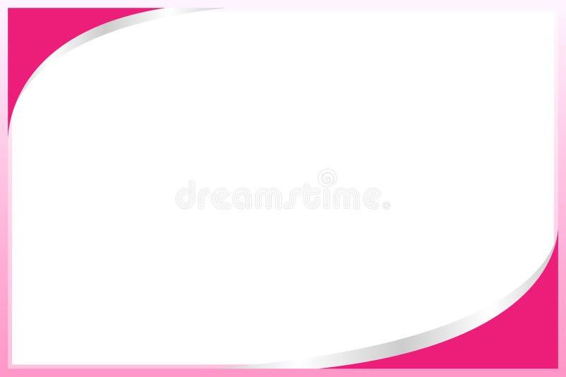 Placa cor-de-rosa pastel do quadrado do fundo do molde da Web da bandeira do quadro da cor e espa?o da c?pia para anunciar o desc ilustração royalty free