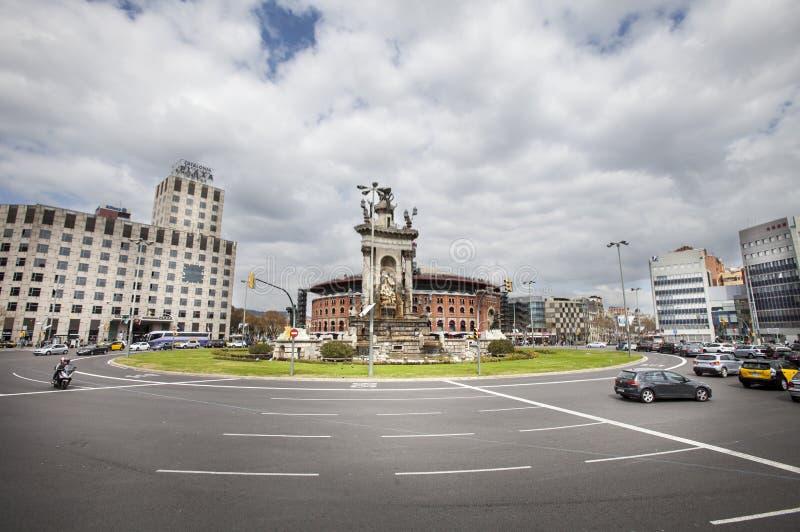 Placa d Espanya, Барселона (Испания) Торговый центр de Las Арена стоковое изображение rf
