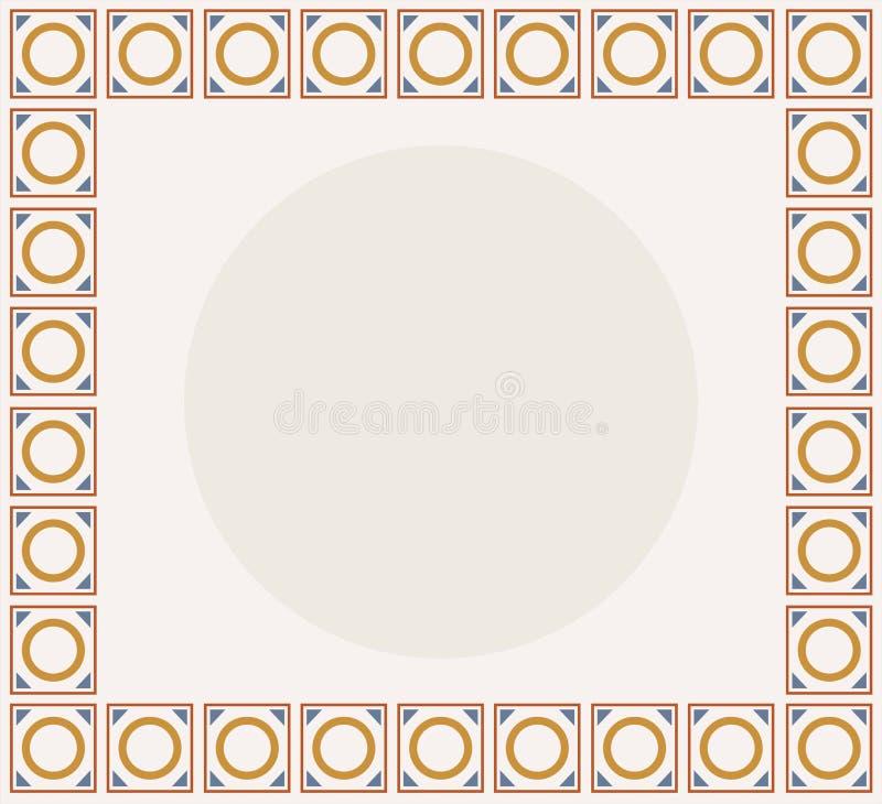 A placa da apresentação para um do logotipo o mais conhecido do sinal de Solomon com Idade Média diferencial colore o esquema ilustração stock
