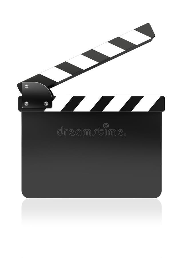 Placa da ardósia do filme ilustração royalty free