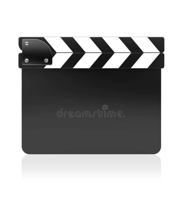 Placa da ardósia do filme ilustração stock