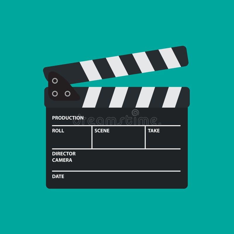 Placa da ardósia ou de válvula do filme para o filme ilustração stock