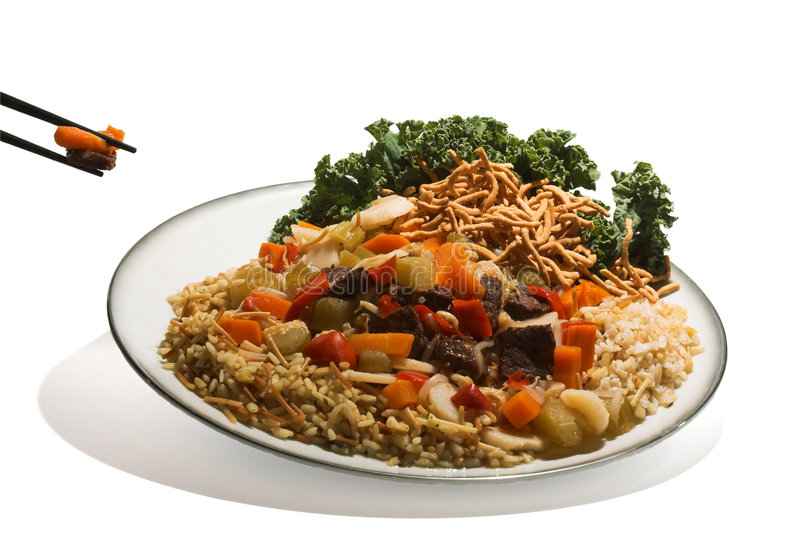 Placa da comida Mein da carne. foto de stock royalty free