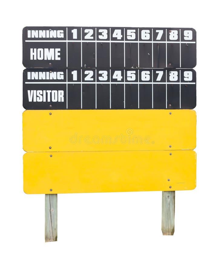 Placa da contagem de basebol imagem de stock