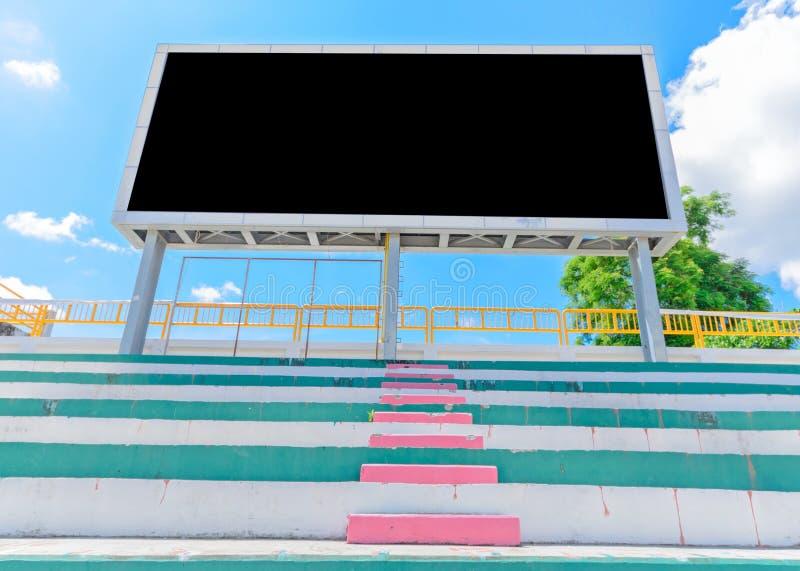 Placa da contagem do estádio fotografia de stock