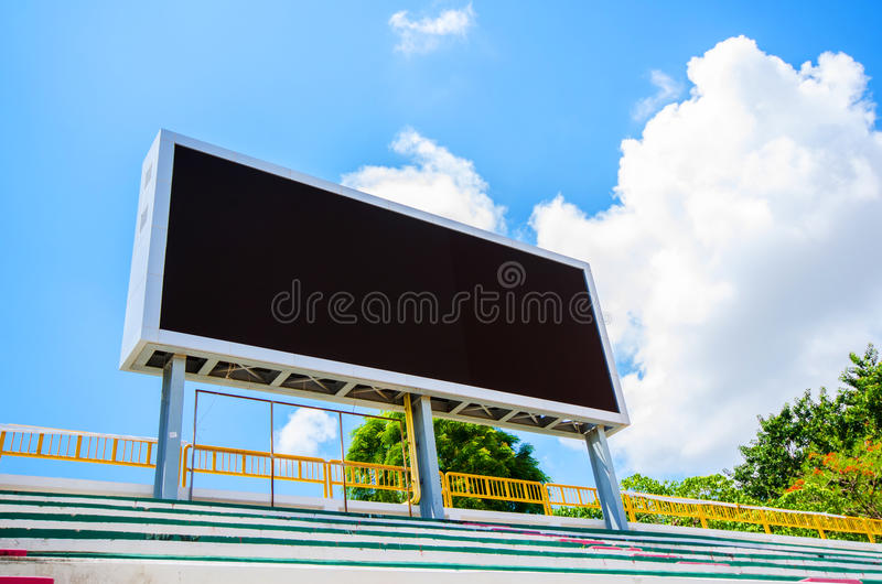 Placa da contagem do estádio imagem de stock