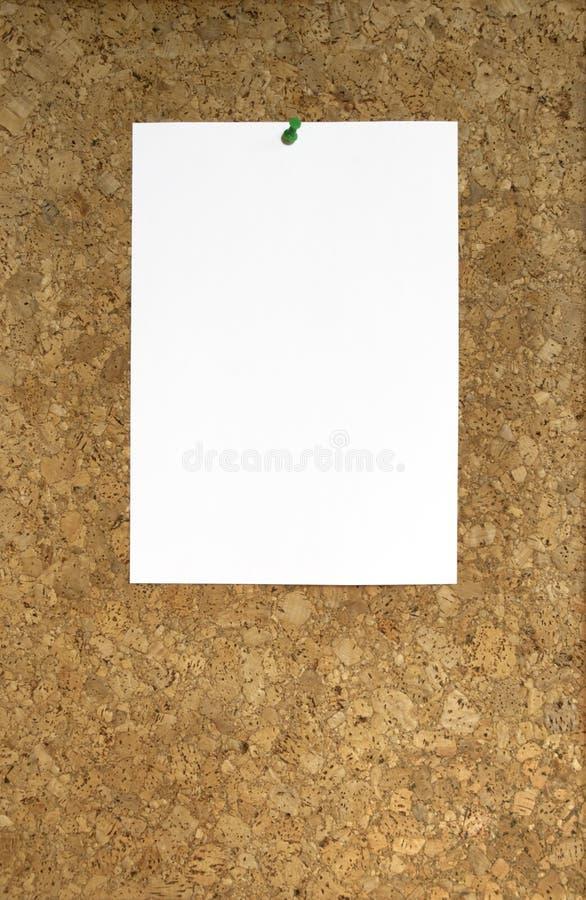 Placa da cortiça foto de stock
