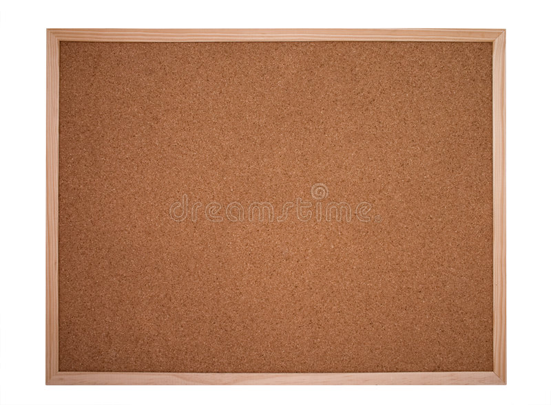 Placa da cortiça ou placa de boletim fotografia de stock
