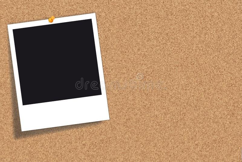Placa da cortiça - placa de boletim - quadro de anúncios ilustração do vetor