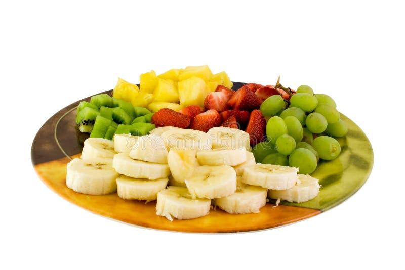 Placa da fruta fotos de stock