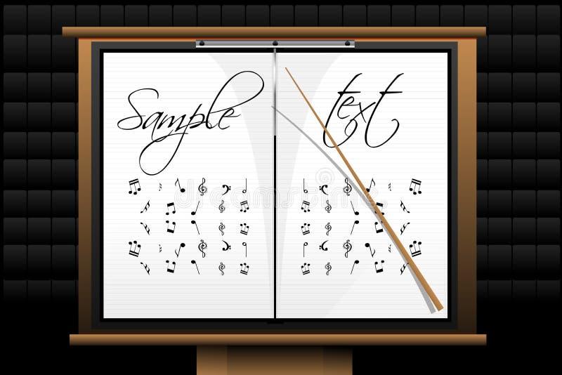 Placa da música ilustração stock